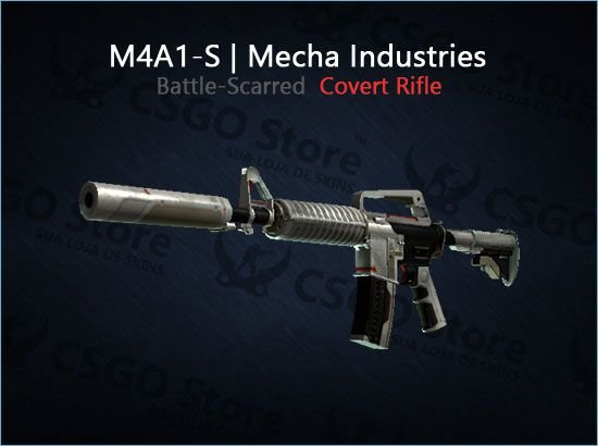 M4A1-S | Mecha Industries (Battle-Scarred)