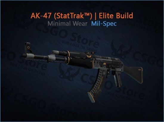 AK-47 (StatTrak™) | Elite Build (Minimal Wear)