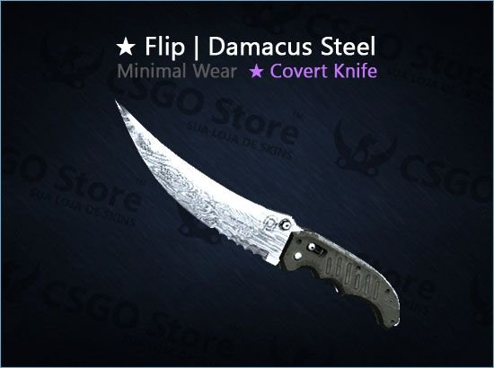 ★ Flip Knife | Damascus Steel (Minimal Wear)