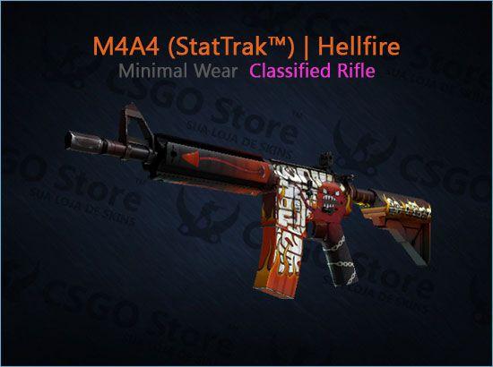 M4A4 (StatTrak™) | Hellfire (Minimal Wear)