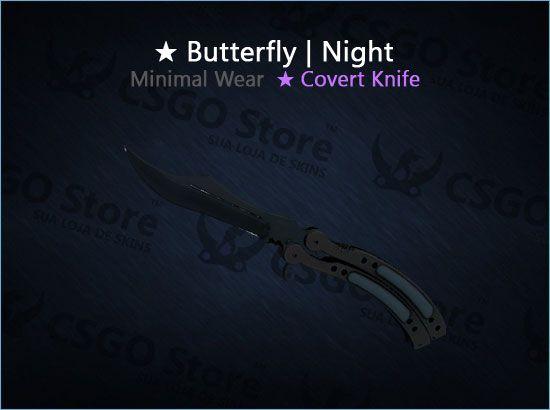 ★ Butterfly Knife | Night (Minimal Wear)