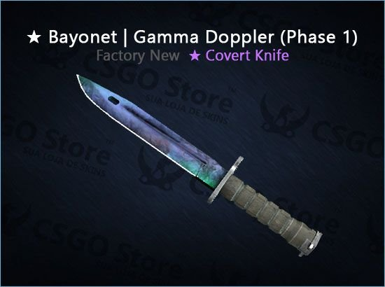 ★ Bayonet | Gamma Doppler Phase 1 (Factory New)