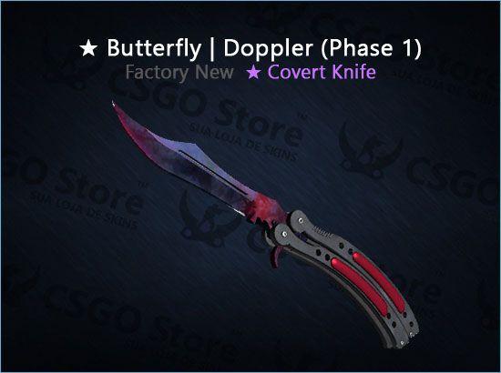 ★ Butterfly Knife | Doppler Phase 1 (Factory New)