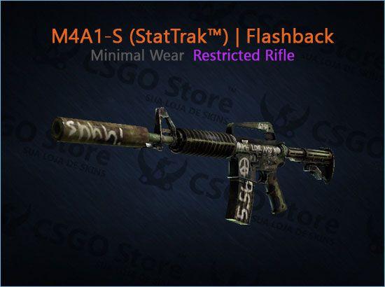 M4A1-S (StatTrak™) | Flashback (Minimal Wear)