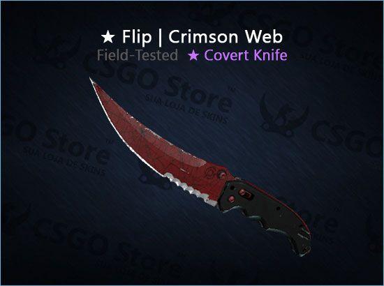 ★ Flip Knife | Crimson Web (Field-Tested)