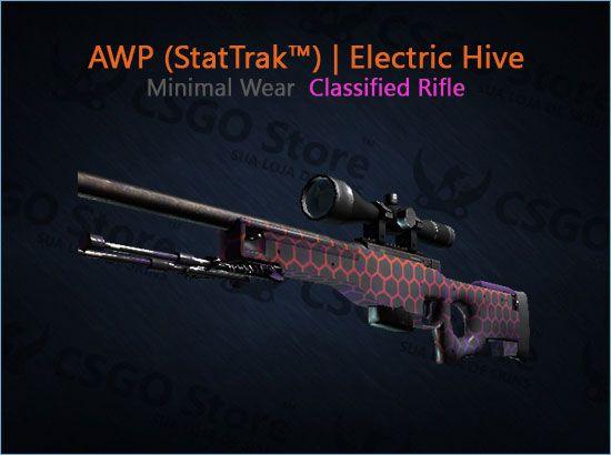AWP (StatTrak™) | Electric Hive (Minimal Wear)