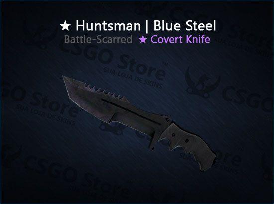 ★ Huntsman Knife | Blue Steel (Battle-Scarred)