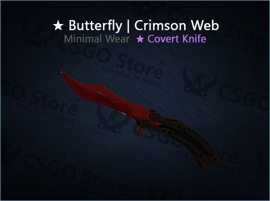 ★ Butterfly Knife | Crimson Web (Minimal Wear)