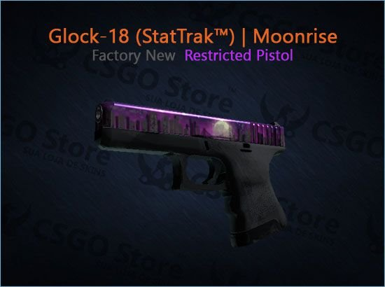 Glock-18 (StatTrak™) | Moonrise (Factory New)