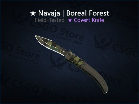 ★ Navaja Knife | Boreal Forest 0.19 (Field-Tested)