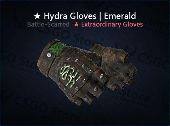 ★ Hydra Gloves   Emerald (Battle-Scarred)