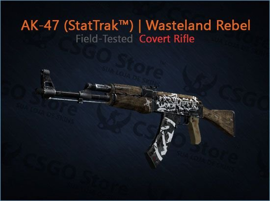 AK-47 (StatTrak™) | Wasteland Rebel (Field-Tested)