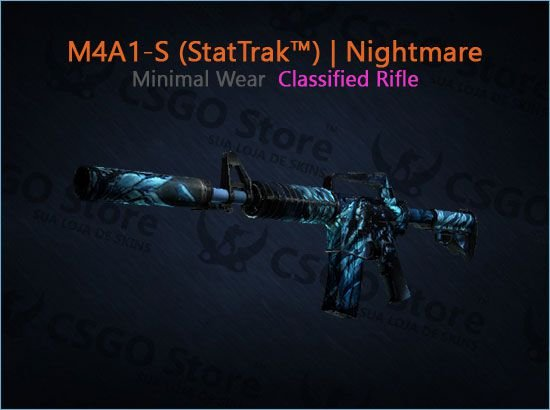 M4A1-S (StatTrak™) | Nightmare (Minimal Wear)