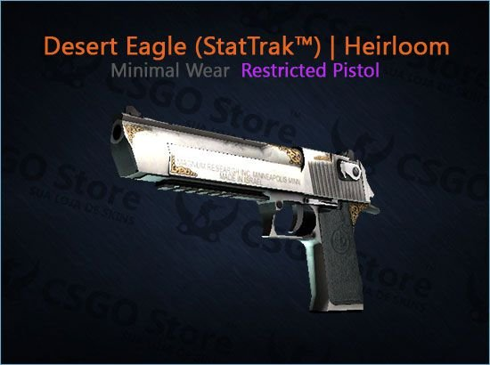 Desert Eagle (StatTrak™) | Heirloom (Minimal Wear)