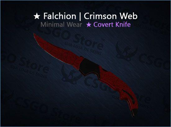 ★ Falchion Knife | Crimson Web (Minimal Wear)
