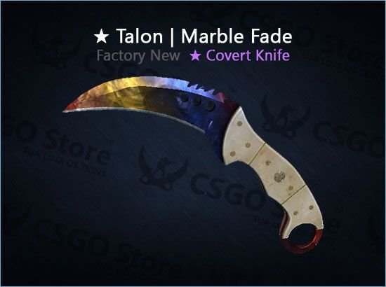 ★ Talon Knife | Marble Fade (Factory New)