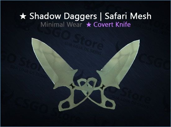 ★ Shadow Daggers | Safari Mesh (Minimal Wear)