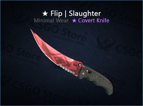 ★ Flip Knife | Slaughter (Minimal Wear)