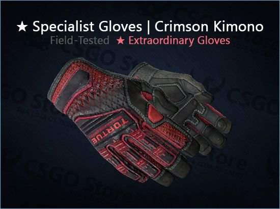 ★ Specialist Gloves | Crimson Kimono 0.1507 (Field-Tested)