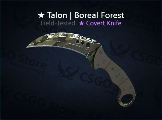 ★ Talon Knife | Boreal Forest (Field-tested)