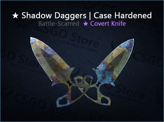 ★ Shadow Daggers | Case Hardened (Battle-Scarred)
