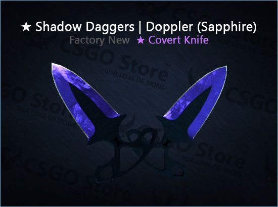 ★ Shadow Daggers | Doppler Sapphire (Factory New)