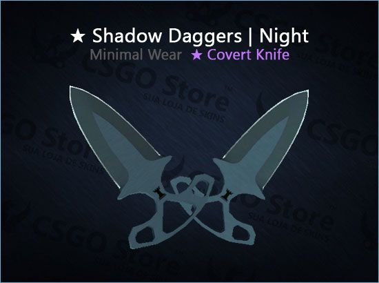 ★ Shadow Daggers | Night (Minimal Wear)