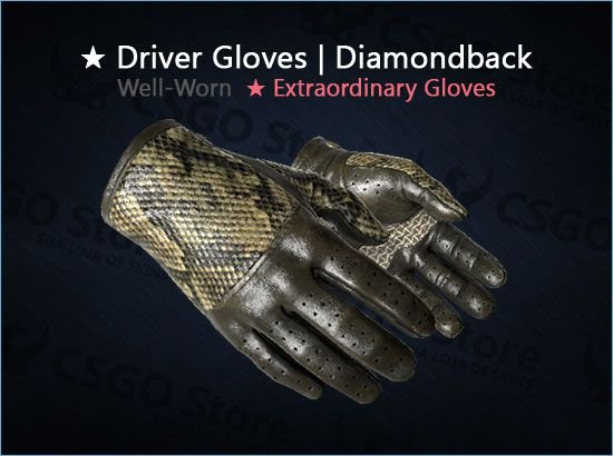 ★ Driver Gloves | Diamondback (Well-Worn)