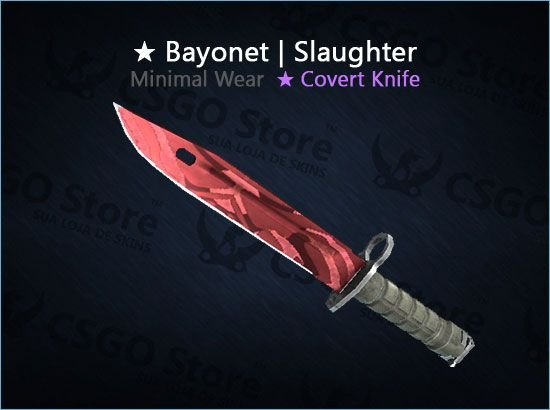 ★ Bayonet | Slaughter (Minimal Wear)