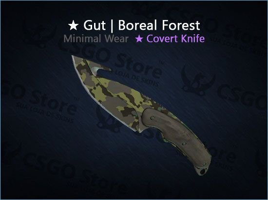 ★ Gut Knife | Boreal Forest (Minimal Wear)