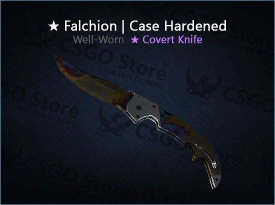 ★ Falchion Knife | Case Hardened (Well-Worn)