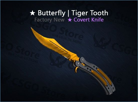 ★ Butterfly Knife   Tiger Tooth (Factory New)
