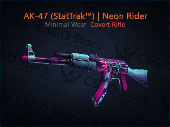 AK-47 (StatTrak™) | Neon Rider (Minimal Wear)
