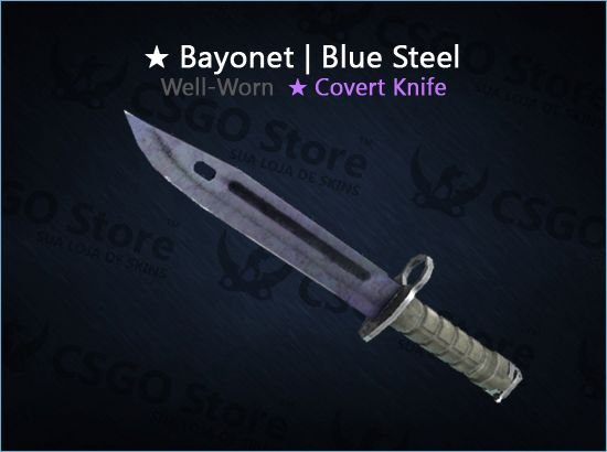★ Bayonet | Blue Steel (Well-Worn)