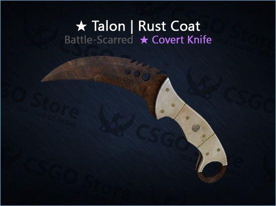 ★ Talon Knife | Rust Coat (Battle-Scarred)