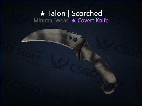 ★ Talon Knife   Scorched (Minimal Wear)