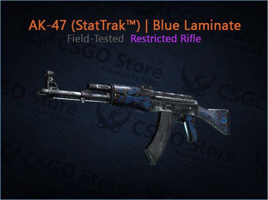 AK-47 (StatTrak™) | Blue Laminate (Field-Tested)