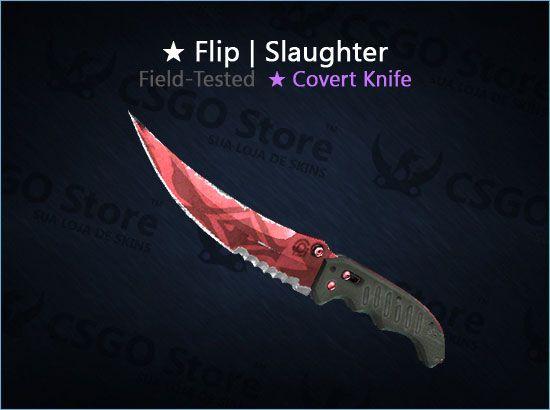 ★ Flip Knife | Slaughter (Field-Tested)