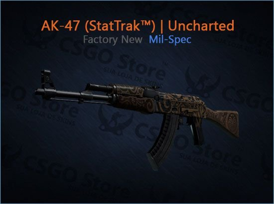 AK-47 (StatTrak™) | Uncharted (Factory New)