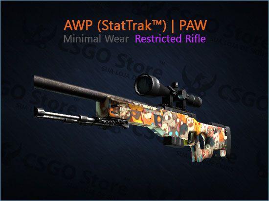 AWP (StatTrak™) | PAW (Minimal Wear)