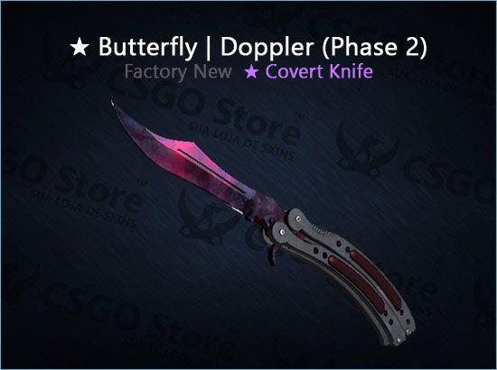 ★ Butterfly Knife | Doppler Phase 2 (Factory New)
