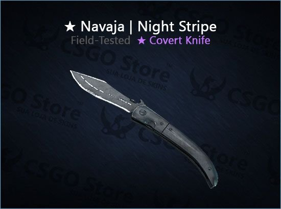 ★ Navaja Knife | Night Stripe (Field-Tested)