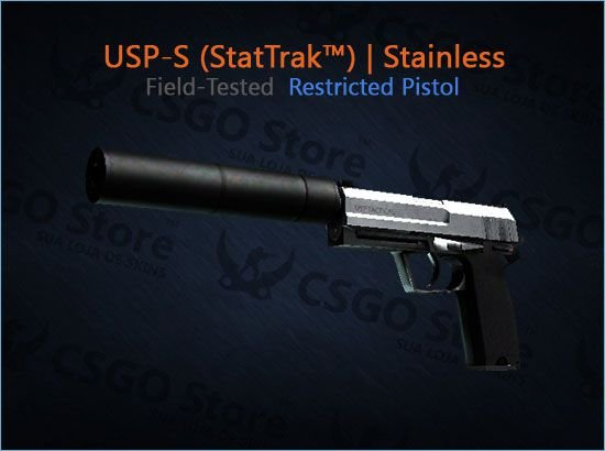 USP-S (StatTrak™) | Stainless (Field-Tested)