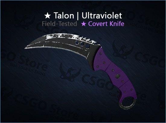 ★ Talon Knife | Ultraviolet (Field-Tested)
