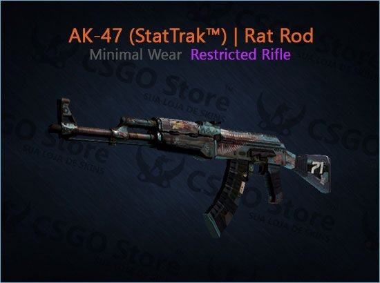 AK-47 (StatTrak™) | Rat Rod (Minimal Wear)
