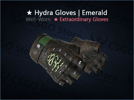 ★ Hydra Gloves | Emerald (Well-Worn)