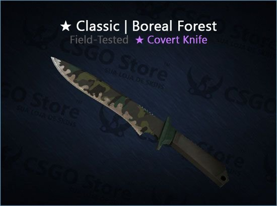 ★ Classic Knife | Boreal Forest (Field-Tested)