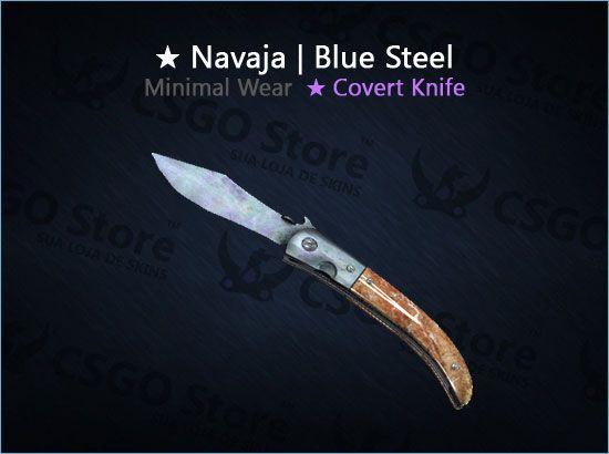 ★ Navaja Knife | Blue Steel (Minimal Wear)