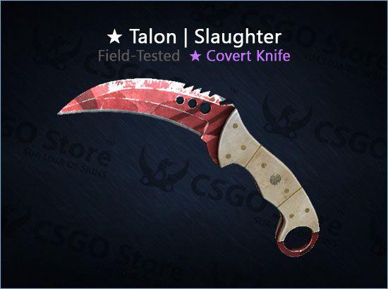 ★ Talon Knife | Slaughter (Field-Tested)