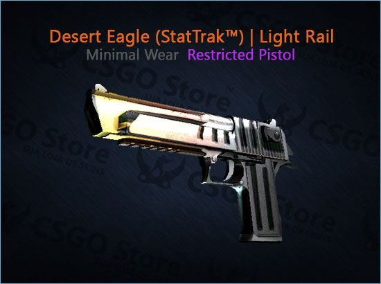 Desert Eagle (StatTrak™) |Light Rail (Minimal Wear)